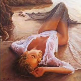 """Когда я начал писать  """"русалка на закате """" Весной 2005 года я был веселым пейзажиста влюблен в стиле импрессионистов."""
